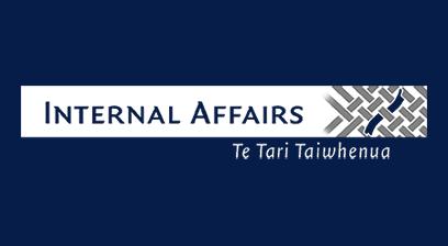 Internal Affairs Te Tari Taiwhenma logo
